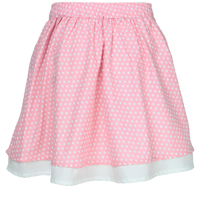 100% Organic Cotton Pink Skirt For Girls