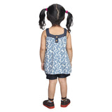 Nino Bambino 100% Organic Cotton Sleeveless Floral Print Top And Short Set For Baby And Kid Girls