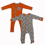 100% Organic Cotton Full Romper (Pack Of 2)