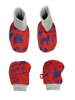 Nino Bambino 100% Organic Cotton Mitten & Booties Set For Unisex Baby