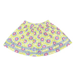 Nino Bambino 100% Pure Organic Cotton Knee Length Floral Multicolor Skirt For Girls