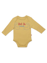 Nino Bambino 100% Organic Cotton Slogan Print Long Sleeve Bodysuits For Baby Boy