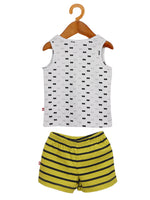 Nino Bambino 100% Organic Cotton Round Neck T-Shirt & Shorts Set For Baby & Kid Boys