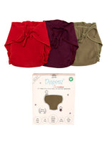 Nino Bambino 100% Organic Cotton Reusable/Washable Assorted Diaper For Unisex Baby