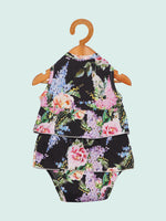 Nino Bambino 100% Organic Cotton Printed Sleeveless Onesie Frill Dress For Baby Girls