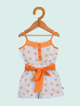 Nino Bambino 100% Organic Cotton Floral Print Singlet Sleeveless Jumpsuit/Dress for Baby Girl