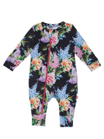 Nino Bambino 100% Organic Cotton Full Sleeve Round Nack Floral Print Multi-Color Romper