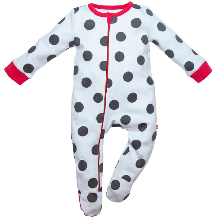 100% Organic Cotton footie Romper
