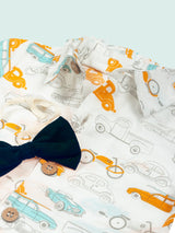 Nino Bambino 100% Organic Cotton Car Print Half Sleeve Baby Boy Romper With Boy