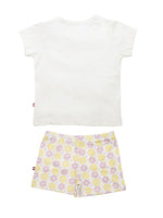 Nino Bambino 100% Organic Cotton Floral Print Top And Bottom Sets For Baby Girls