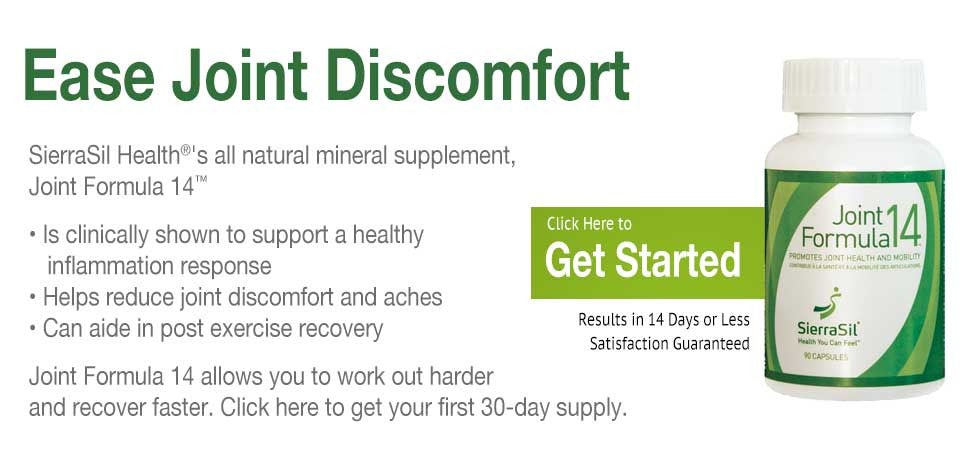 Get relief with SierraSil Joint Formula 14 today.