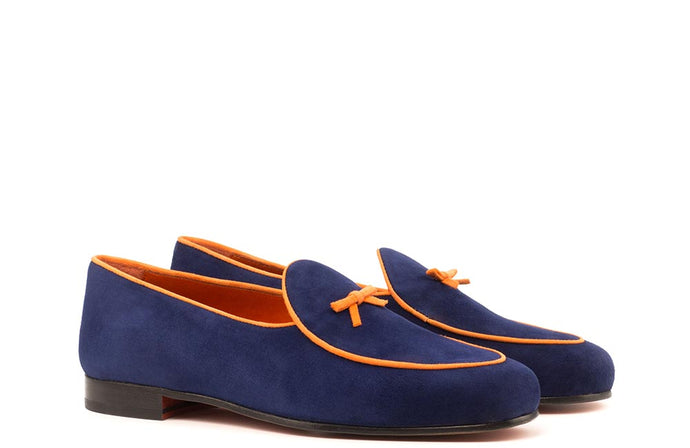 BELGIAN SLEEPER - NAVY & ORANGE