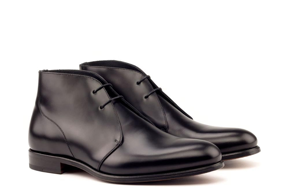 CHUKKA - GLAZED BLACK