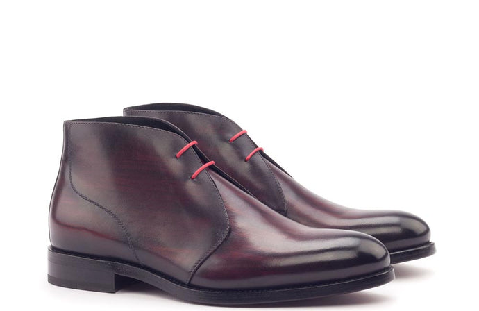 CHUKKA - BURGUNDY PATINA