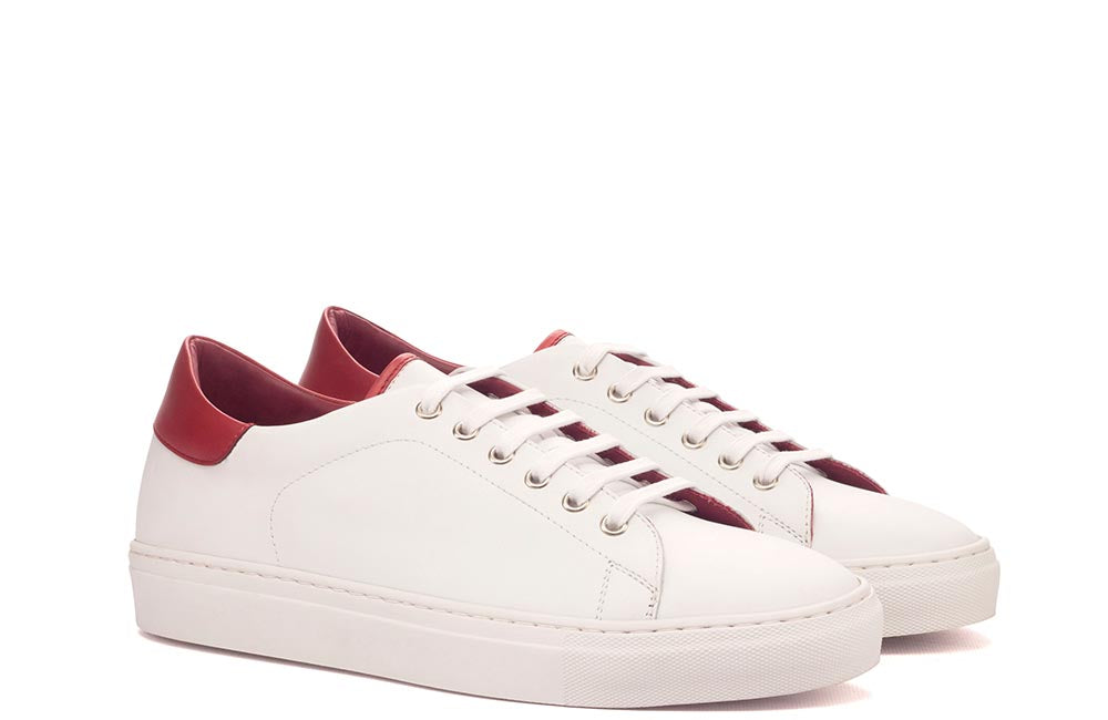 TRAINER - WHITE & RED