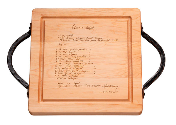 Recipe Square Wood Board