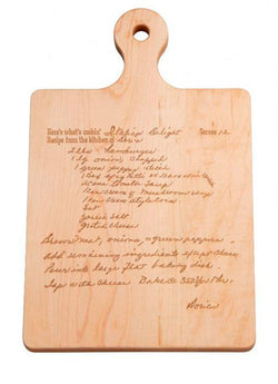 Recipe Artisan Wood Board