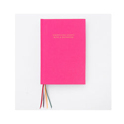 Pink Multi-Ribbon Notebook