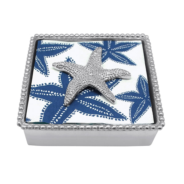 Starfish Beaded Cocktail Napkin Box