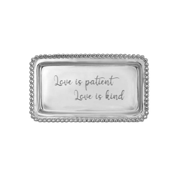 Love is Patient Beaded Statement Tray