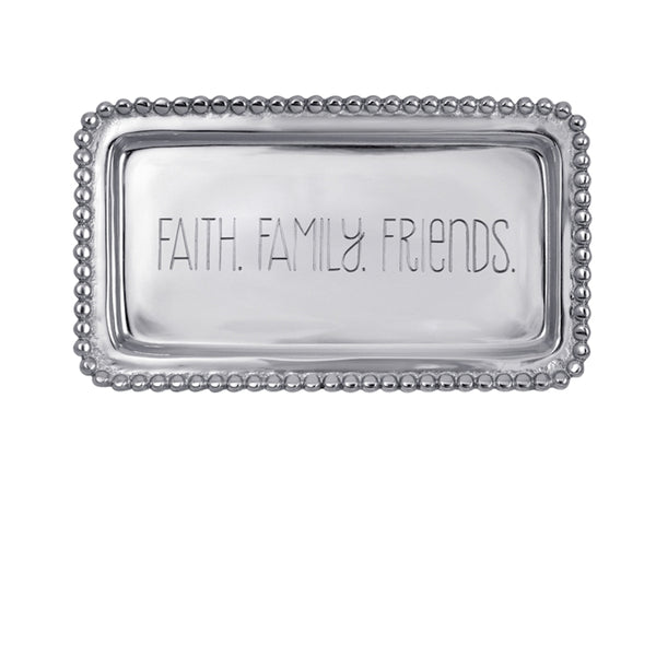 Faith, Family, Friends Beaded Statement Tray