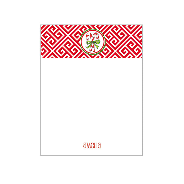 Holiday Motif Notecards Personalized