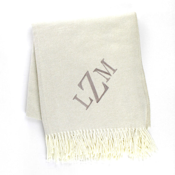 Custom Monogram Throw
