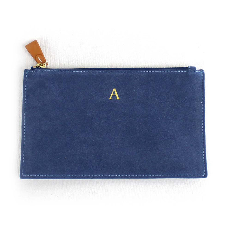 Initial Carrie Suede Clutch
