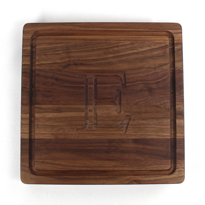 Initial Wood Board Square