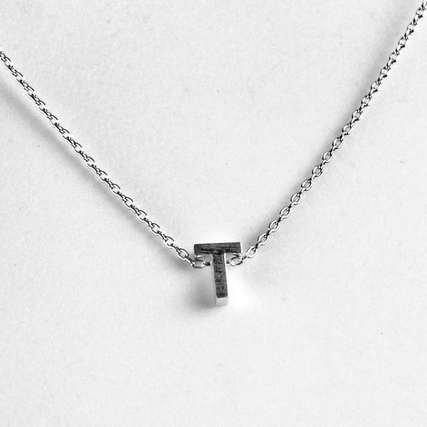 Petite Block Initial Necklace