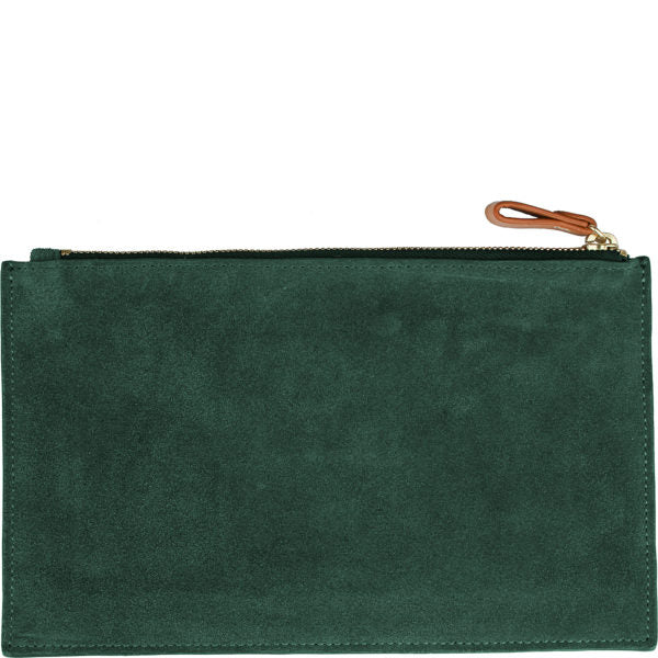 Carrie Suede Clutch