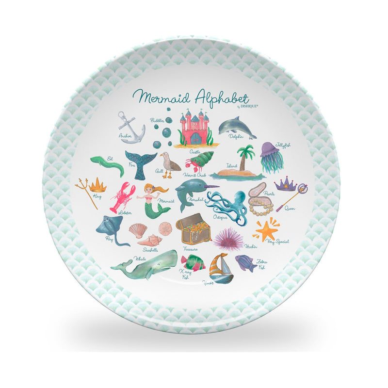 Mermaid Alphabet Plate