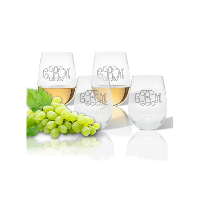 Custom Acrylic Stemless Wine Glasses