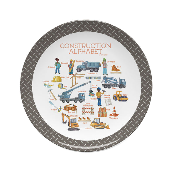 Construction Alphabet Plate
