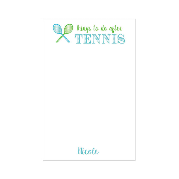 Tennis Notepad Personalized