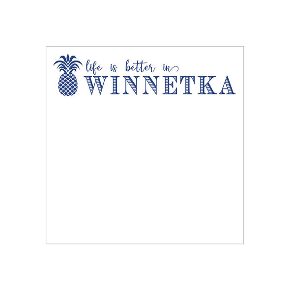 Pineapple Town Notepad Personalized