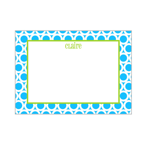 Mod Circles Notecards Personalized