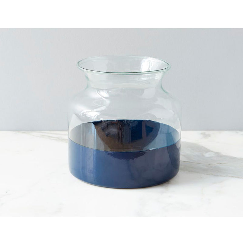 Colorblock Vase Navy