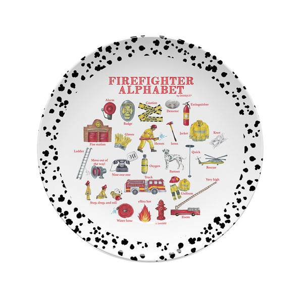 Firefighter Alphabet Plate