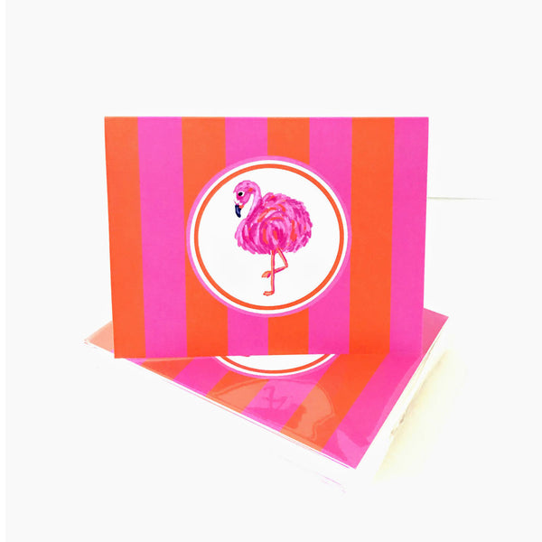 Flamingo Folded Notecards