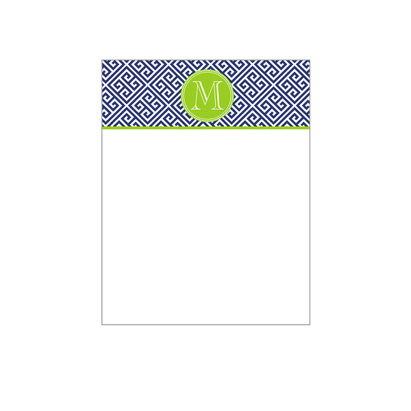 Initial Notecards Greek Key