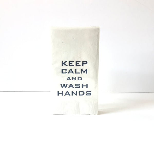 Keep Calm & Wash Hands Guest Towels