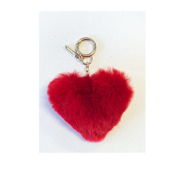 Fur Heart Key Chain