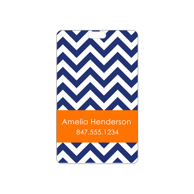 Luggage Tag Chevron Personalized