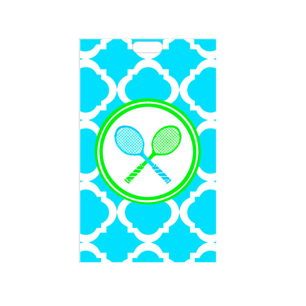 Tennis Luggage Tag Personalized