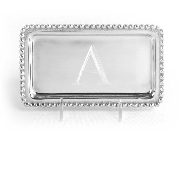 Initial Pearled Statement Tray