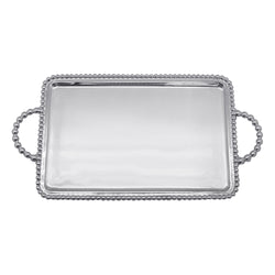 BEADED MEDIUM SERVICE TRAY ENGRAVABLE