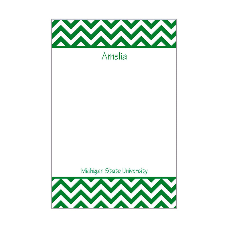 Chevron School Notepad Personalized