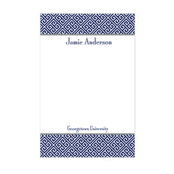 Greek Key School Notepad Personalized