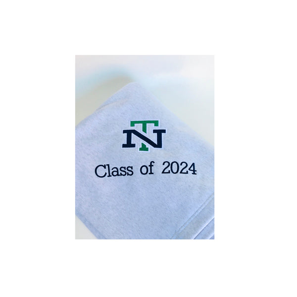New Trier 2024 Sweatshirt Blanket